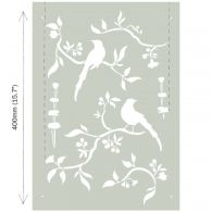 Stencil A3 Design Chinoiserie Birds